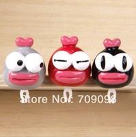Free shipping NEW Cartoon Bulge EYES DOLL 3.5mm Plug Earphone Jacket Plug Jack Stopper Phone4 4s Plug Ear Hole Cap Socket
