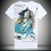Feeling Apparel 2013 new arrivals chinese classical style fashion design,men\'s 100% cotton O-neck short-sleeve T-shirt.M-XXXXXL