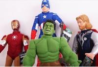 Freeshipping wholesale 4PCS/lot Iron man 3 Captain America The Hulk  toys doll super man doll gift