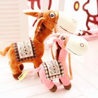 HOT  gift  * plush toys * Small horsehair donkey plush toy small doll cloth doll child gift female birthday gift mascot