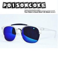 Is vintage fashion popular multi-colored reflective lens sunglasses