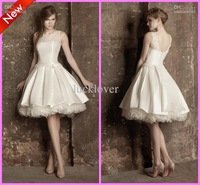 Wholesale - Sizes available Gorgeous A-line Jewel Tulle Satin Organza Knee length Short Party Wedding