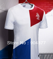 ^_^ Netherlands away white 13/14 thai 3A+++ soccer jerseys player issue holland soccer uniforms customized name notes in order