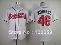 Free Shipping 2013 Cheap Men's Baseball Jerseys Atlanta Braves #46 Kimbrel Jersey ,Embroidery Logos,Mix Order