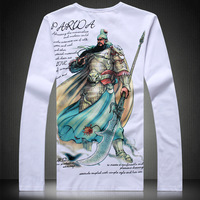 Feeling Apparel Hot-selling Size big long-sleeve t-shirt o-neck oye-8158-p65 white frame
