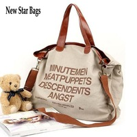 New Star Bags hot sale tote bag casual canvas big bag fashion ladies should bag handbag free shippment factory price