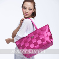 2013 women's handbag female women's handbag shoulder bag fashion bag woven bag safety belt bag