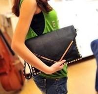 Red pepper hemming - rivet bag rivets envelope clutch bag day one female shoulder bags