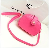 2013 women's handbag half round shaped small cross-body bag neon green day clutch