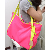 2013 women's handbag casual bag neon shoulder bag big bag