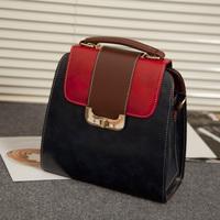 2013 gentlewomen elegant women's bags vintage color block one shoulder messenger bag handbag backpack