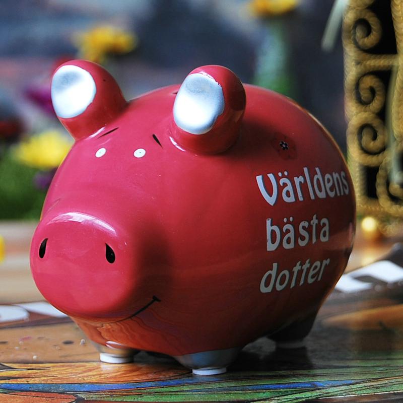 Free shipping Gift ceramic pig piggy bank pig piggy bank change cans Large(China (Mainland))