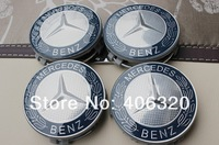 Free shipping NEW 4X 75mm MERCEDES BENZ AMG Emblem Wheel Center Caps Covers