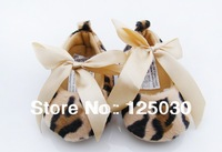 free shipping 1 lot / 3 pairs Leopard Spring girl toddler shoes soft bottom baby shoes