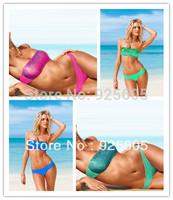 New Free shipping Sexy women Halter Bra with  lycra Padded boho dolly bikini Swimwear swimsuit multi-colors S M L 4 colors  T85