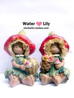 Resin craft ceramic technology decoration crafts gift wedding doll 8010
