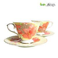 Jingdezhen ceramic coffee cup set coffee cup fashion bone china ceramic cup fashion gift