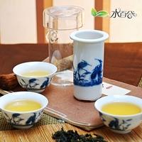 Quality tea set blue and white tea glass 7 tieguanyin kung fu tea set
