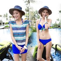 Small peach swimwear national 2014 trend bikini three piece set swimwear