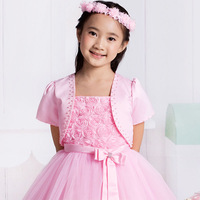 Beautiful white waistcoat female child outerwear outergarment vest child princess dress cape
