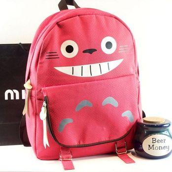 Totoro double-shoulder student school bag cartoon backpack preppy style women's handbag bag vintage bag casual bag