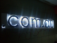 CUSTOMIZED bright painted metal halo backlit 3D led lighting advertising sign letters outdoors