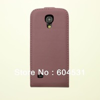 Free shipping By Fedex/DHL 50pcs/lot Real leather case for Samsung Galaxy S4 mini I9190 mix color