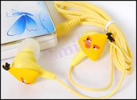 Free Shipping 3.5mm Mini Cute Fashion Newly Cartoon in-ear Earphone Headphone 10pcs/lot High Popular