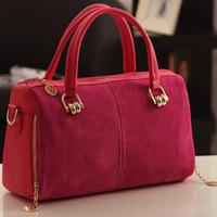Women Handbag New Matte Leather Europe Fashion Trend Contrast Color Portable Shoulder Bag BG1302