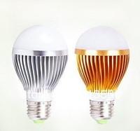 9w LED bulb,Dimmable Bubble Ball Bulb AC85-265V ,E14 E27 B22 GU10,silver/gold shell color,warm/cool white,3*3w