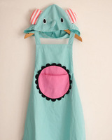 free shipping Circus mint cartoon cute aprons hooded smoke at home apron