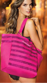 HOT!  VS281 Beautiful BLING Pink Limited Edition Sequin Beach Tote Bag SHOPPing, Shoulder bags, girl sexy brand Sequins bag