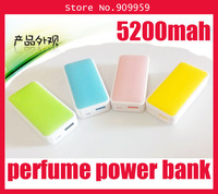 Mini perfume mobile power supply large capacity 5200 ma phone charging treasure factory direct sale on sale