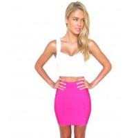 Newest Fashion HL Bandage Women Summer Skirt Mini Pencil Sexy Office Wear Brand Quality rose green gray black HL135-1