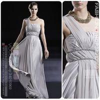 Free Shipping DHL Sophia 612 grey one shoulder design long evening dress fashion plus size   evening dress marriage