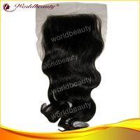 stocks fast free shipping wholesale price 4*4 Indian virgin lace base hair closure