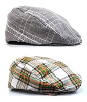 Children Berets Canvas Grid Caps For Kids Duckbill Cap Hats Baby Cap Fashion Headgear Hat