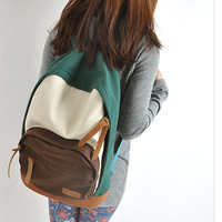 Wholesale price good quality casual backpacks colorful canvas shoulder bag school bag for girls as gift