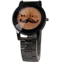 Fashion hot-selling fashion watch trend vintage watch table leather buckle on steel lovers watches