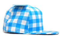 Boy's Baseball Caps Children's Blue Grid Canvas Cap For Kids Duckbill Cap Hats Baby Hat Fashion Headgear