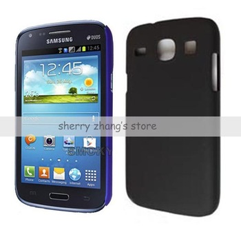 mobile phone black hard rubber case, cover skin shell 1pcs+free shipping,For Samsung Galaxy Core i8260
