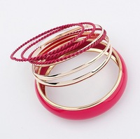 BS006 Hot Mix Colors European Fahion Strand Bracelet Bangles for Women Bohemian Jewelry Wholesale