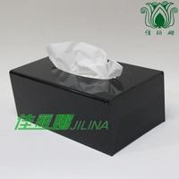 Facial tissue paper box black acrylic tissue box acrylic tissue box tissue box 21x12x8 black