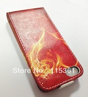 New Arrival for iPhone5 FLip Leather Retro Cover, 50pcs/lot,Free Shipping!