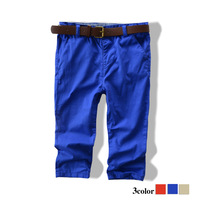 2013 children's clothing child 100% cotton trousers male child thin candy color casual pants baby trousers