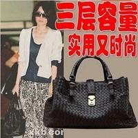 Handbags New Korean Version Retro Woven Bag Fashion Shoulder Bag Handbag Triple Capacity BG1313