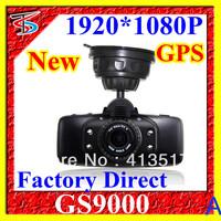 2013 New 2.7 Inch 1920*1080P 30FPS Car Camera Recorder GS9000 Ambarella GPS Free Shipping retail box