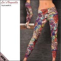 Free Shipping Sexy Leggings Fashion 2013 Bandage Women Pants Summer Pattern Graffiti Doodle Printing Leggings For Women LB13557