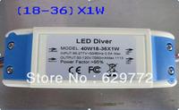 Free shipping 10pcs/lot (18-36)x1W led driver adapter led lighting transformer Efficiency 95% downlight AC90-264V RoHS CE