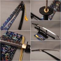 Samurai Katana Good Mirror Effect Blade Full Tang Japanese Swords Reverse Hamon